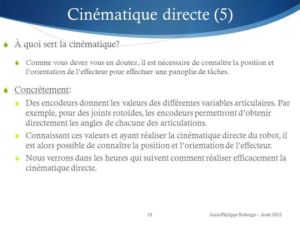 Cinématique directe (5)