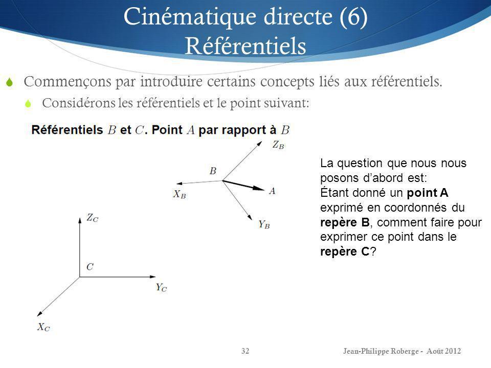 Cinématique directe (6) Référentiels