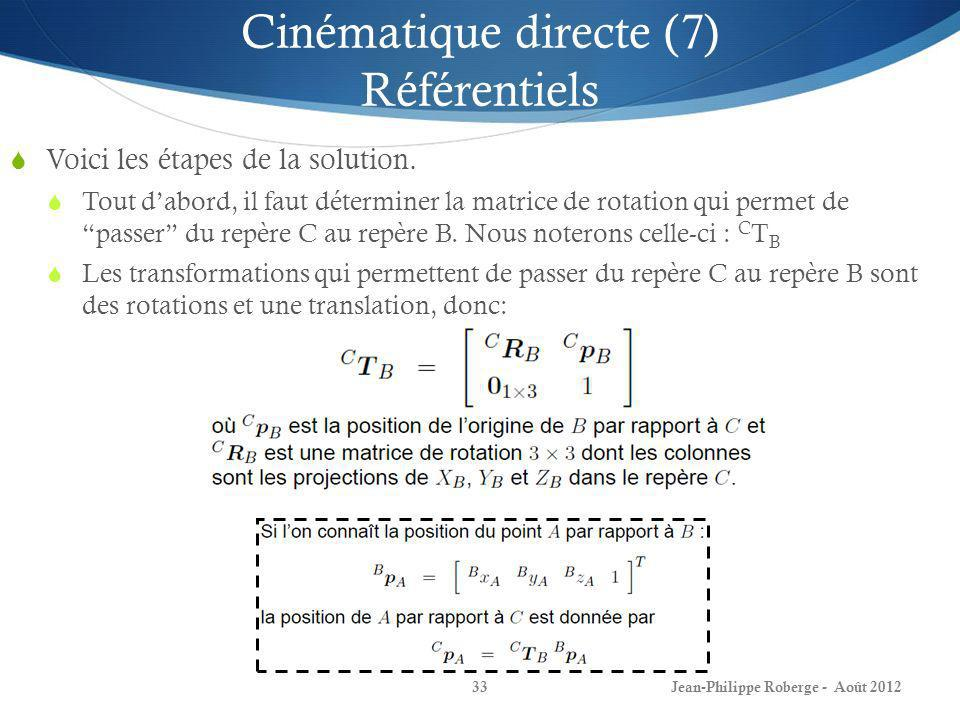 Cinématique directe (7) Référentiels
