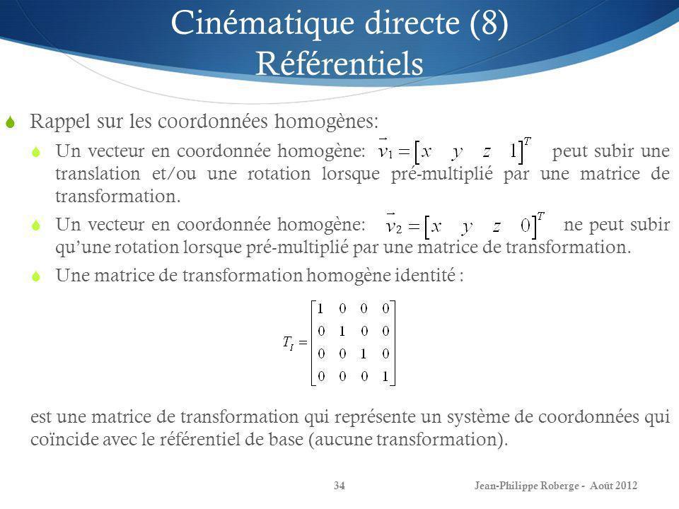 Cinématique directe (8) Référentiels