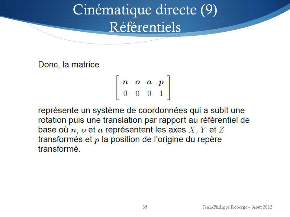 Cinématique directe (9) Référentiels