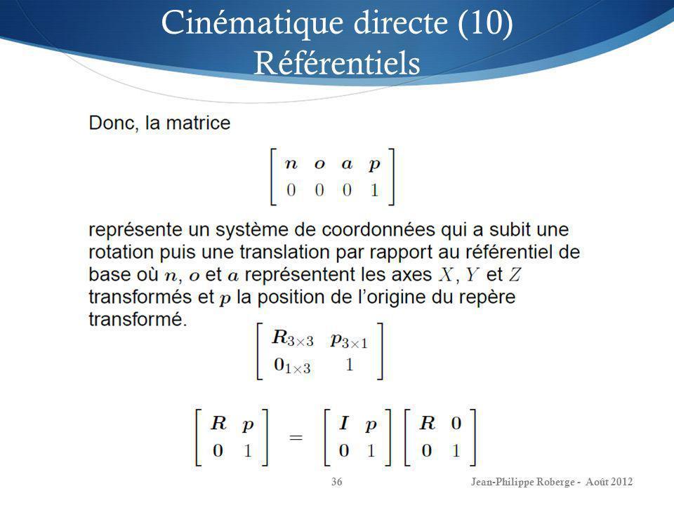 Cinématique directe (10) Référentiels