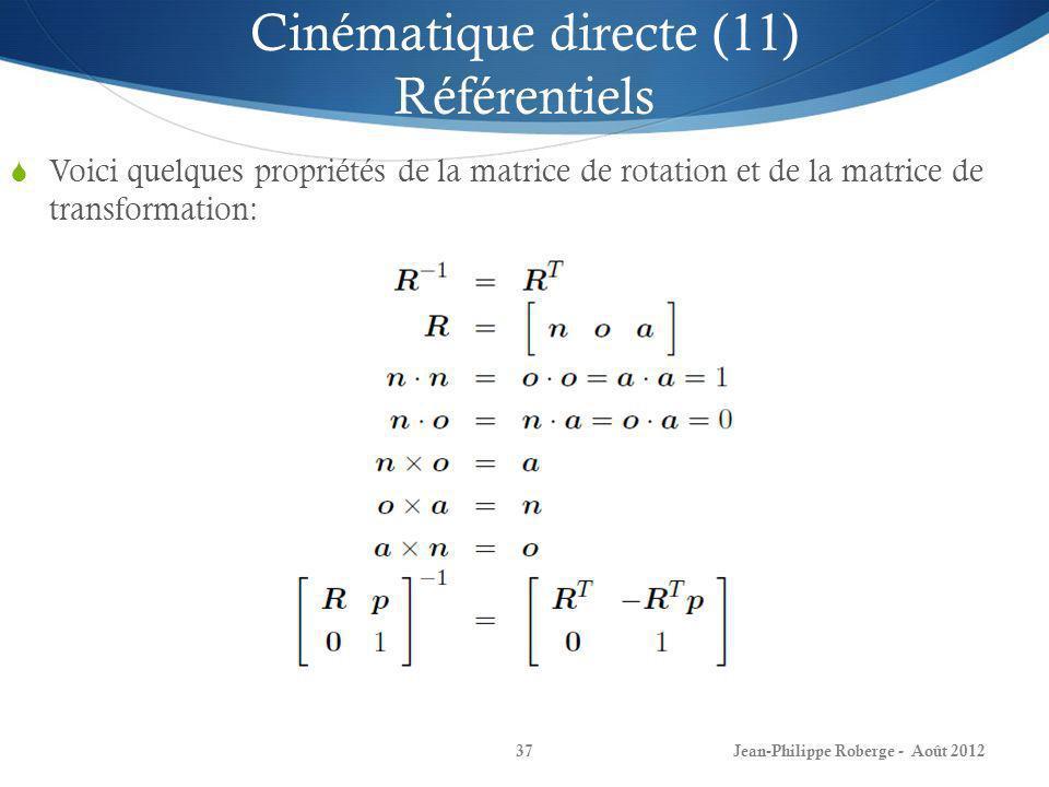 Cinématique directe (11) Référentiels