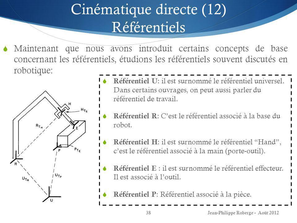 Cinématique directe (12) Référentiels