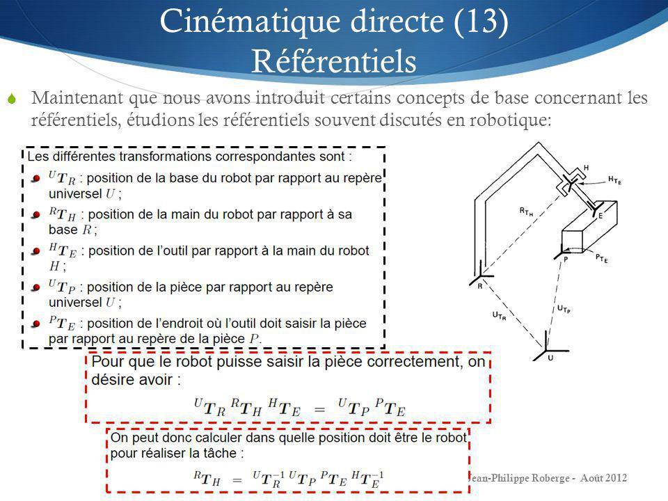 Cinématique directe (13) Référentiels