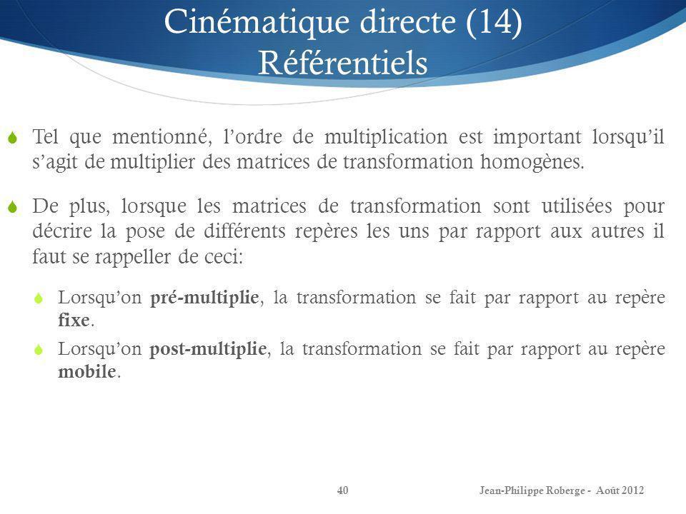 Cinématique directe (14) Référentiels