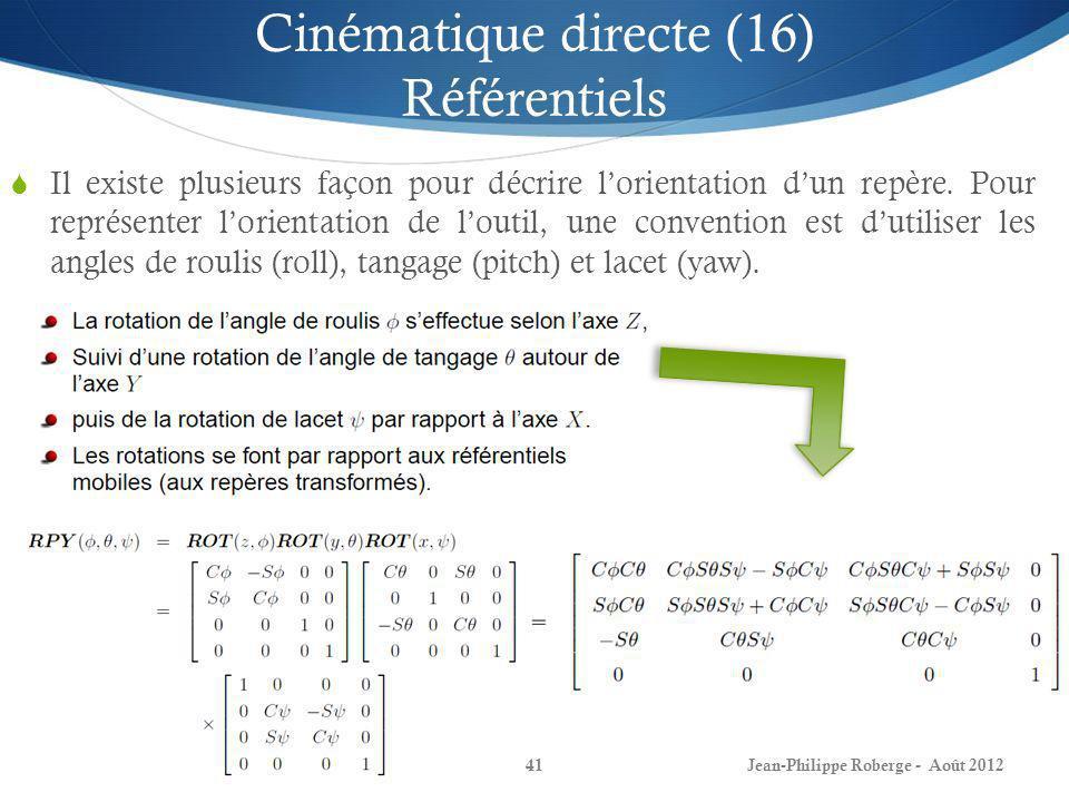Cinématique directe (16) Référentiels