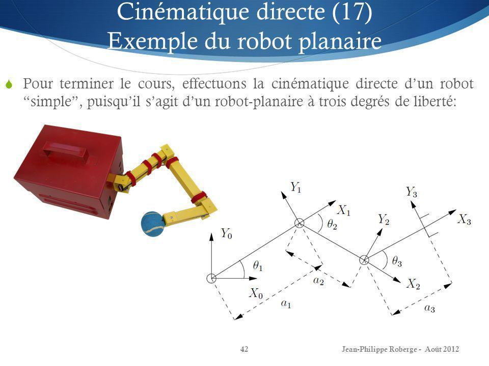 Cinématique directe (17) Exemple du robot planaire