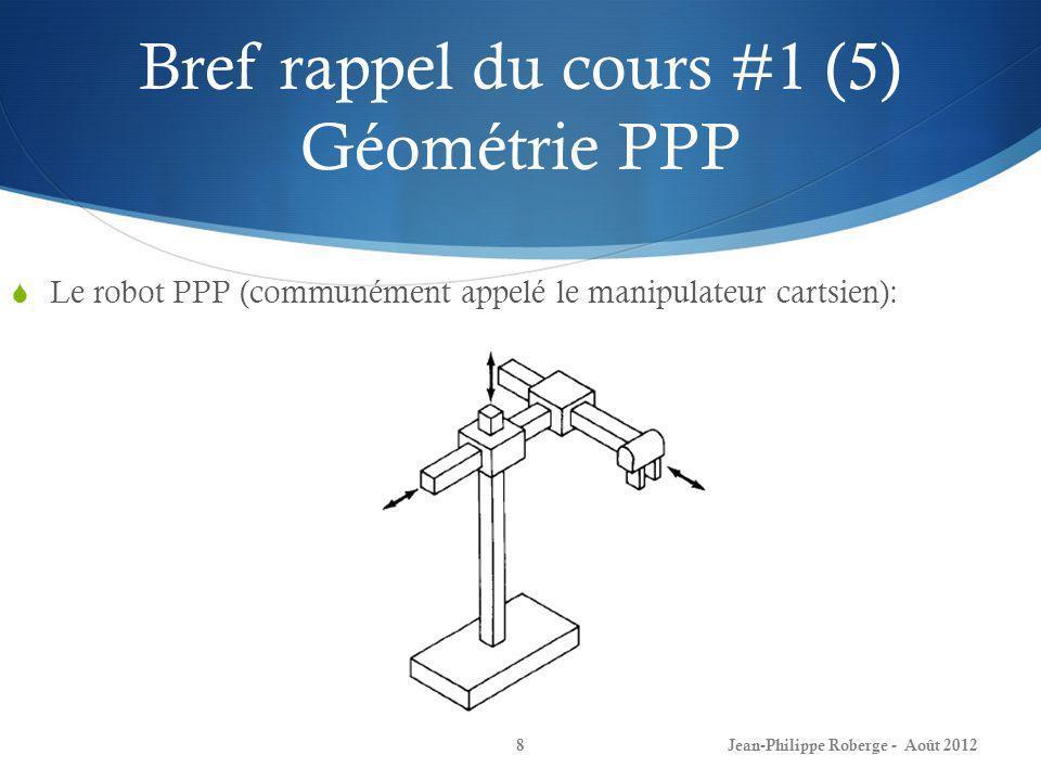 Bref rappel du cours #1 (5) Géométrie PPP