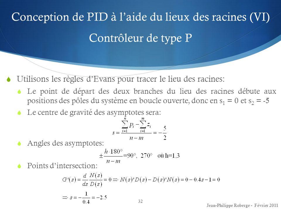 Conception de PID à l'aide du lieux des racines (VI) Contrôleur de type P