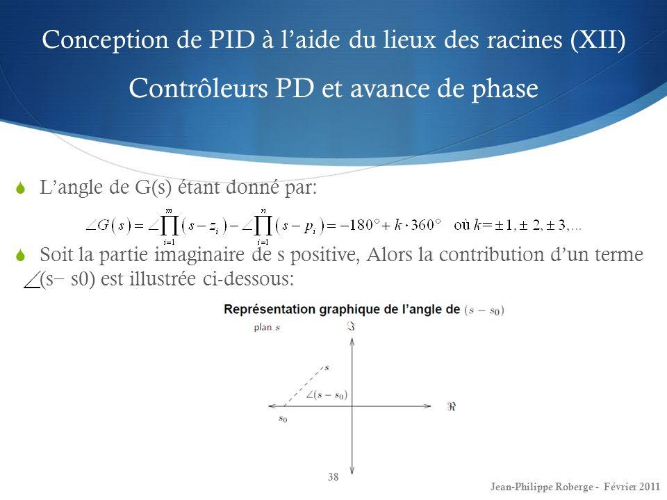 Conception de PID à l'aide du lieux des racines (XII) Contrôleurs PD et avance de phase