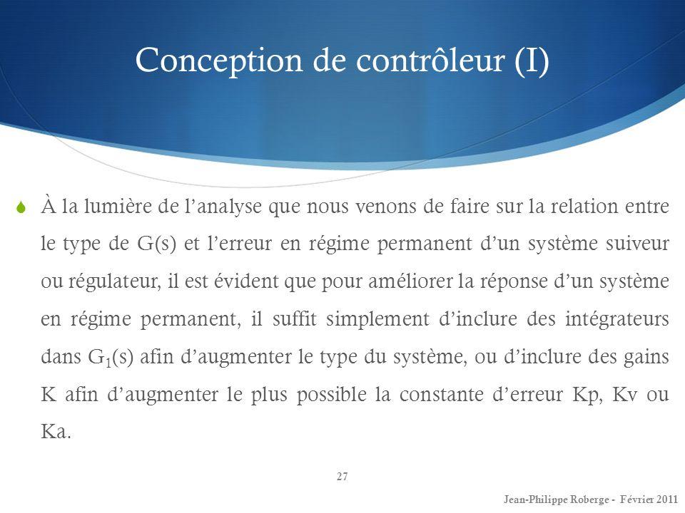 Conception de contrôleur (I)