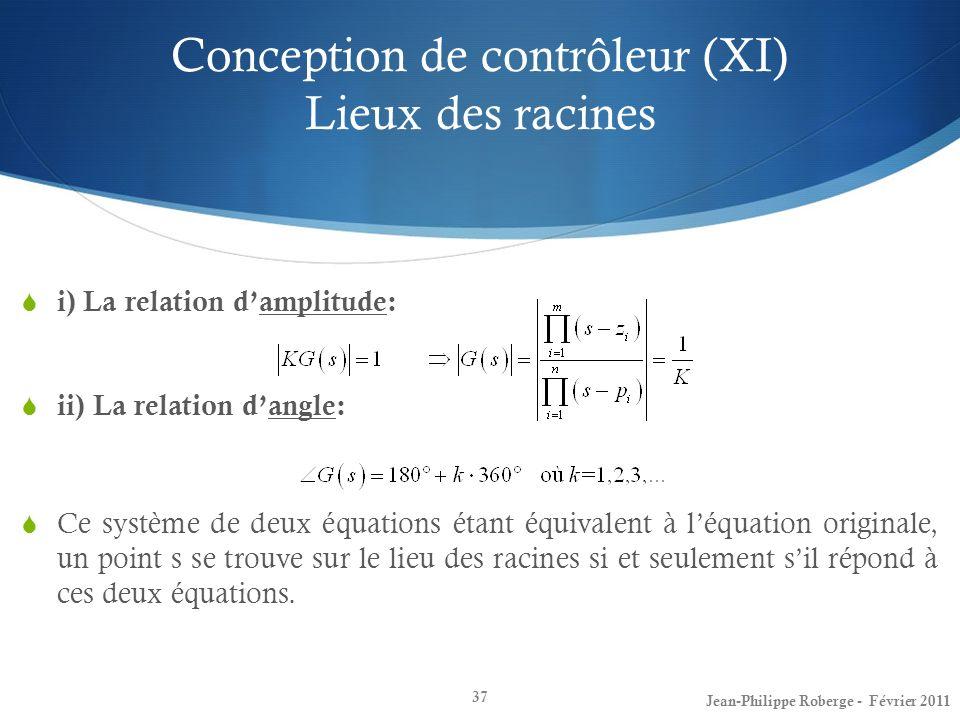 Conception de contrôleur (XI) Lieux des racines