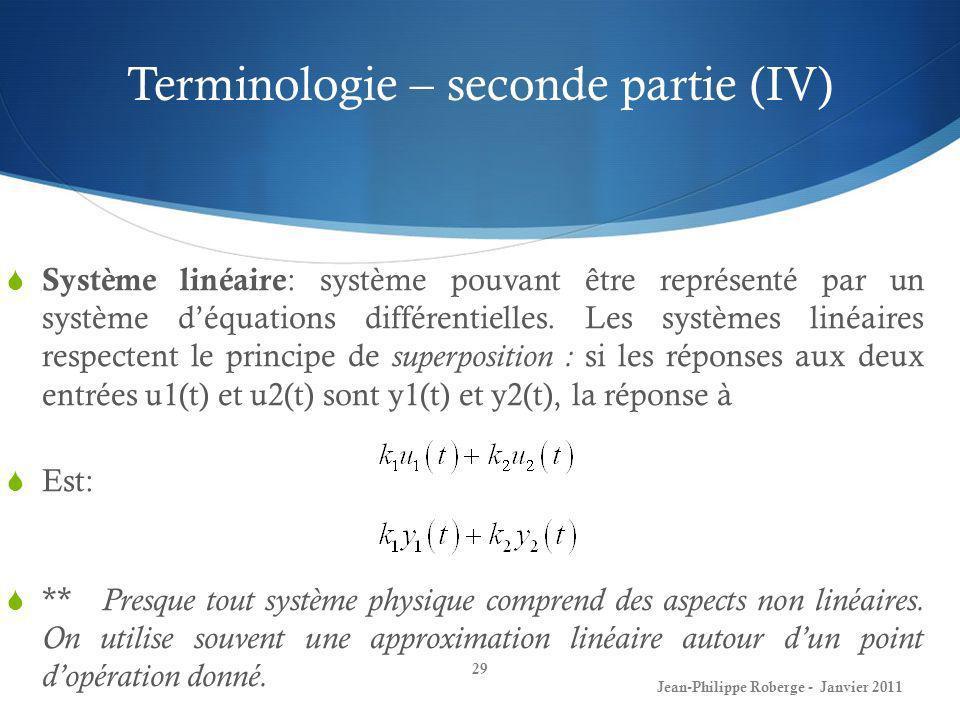 Terminologie – seconde partie (IV)