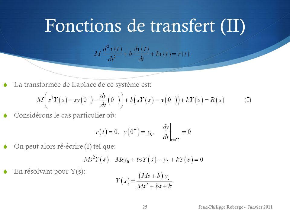 Fonctions de transfert (II)