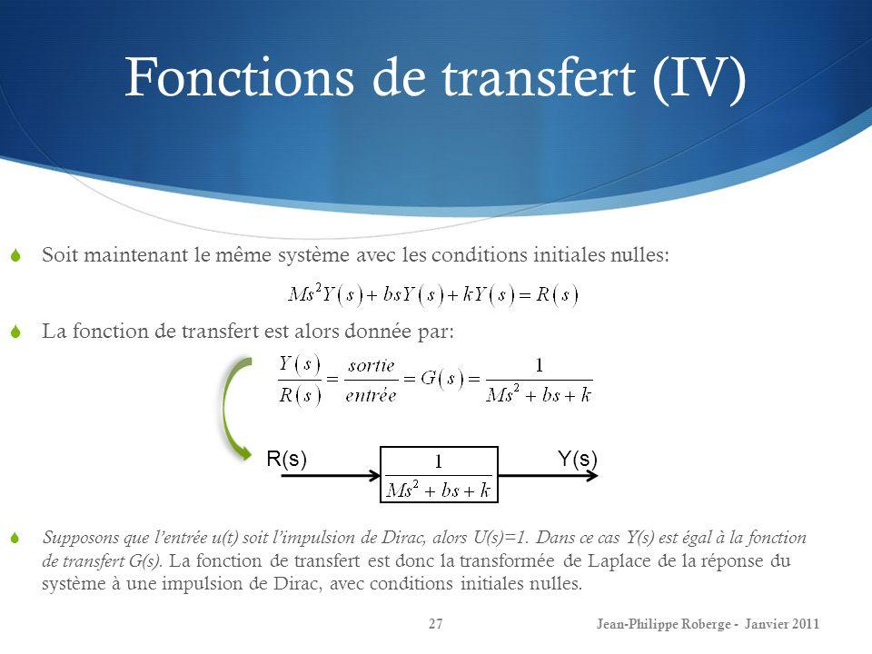 Fonctions de transfert (IV)