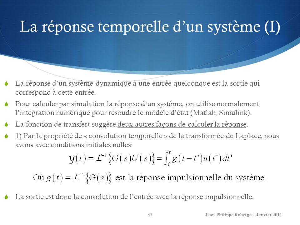 La réponse temporelle d'un système (I)