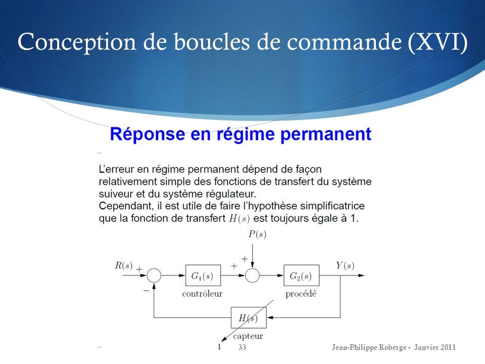 Conception de boucles de commande (XVI)