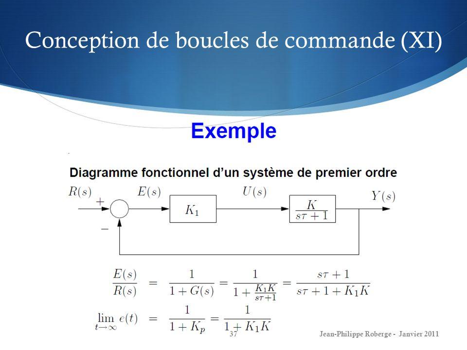 Conception de boucles de commande (XI)