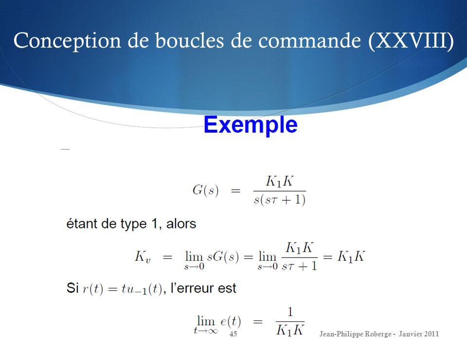 Conception de boucles de commande (XXVIII)