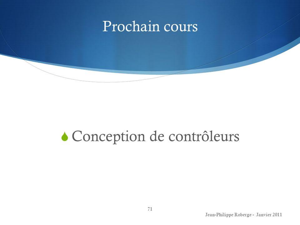 Conception de contrôleurs