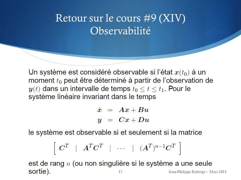 Retour sur le cours #9 (XIV) Observabilité