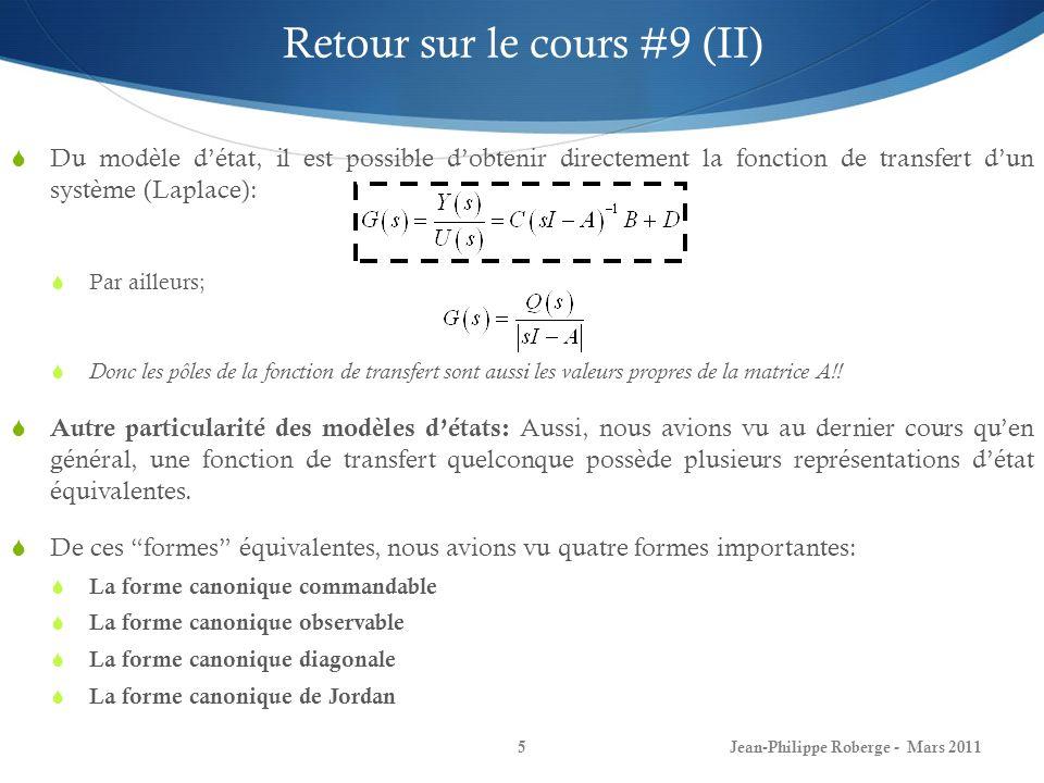 Retour sur le cours #9 (II)
