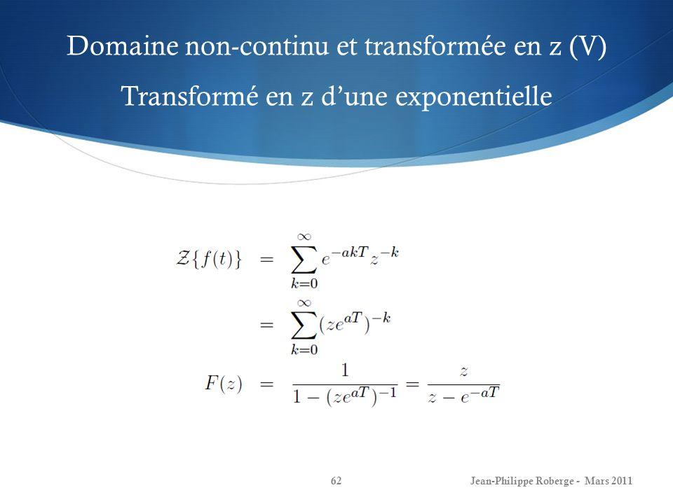 Domaine non-continu et transformée en z (V) Transformé en z d'une exponentielle