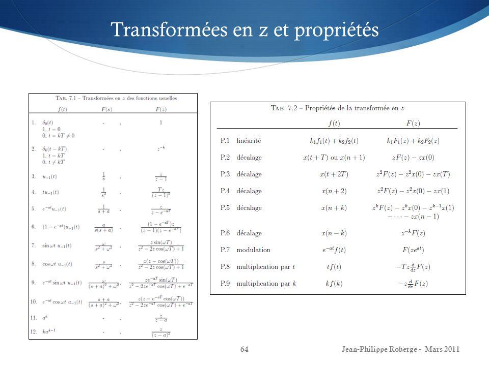 Transformées en z et propriétés