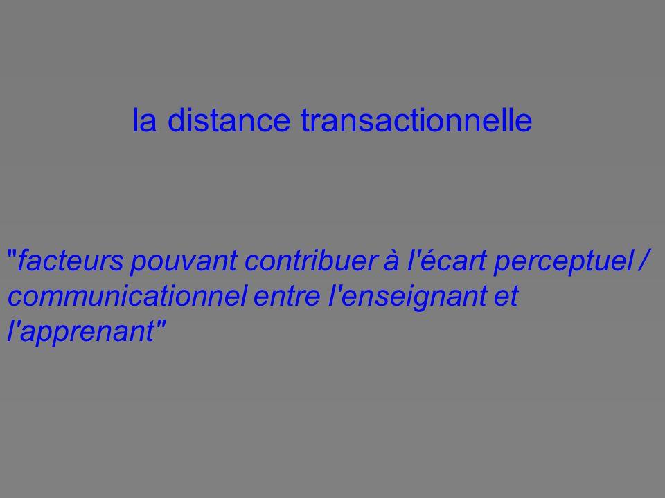 la distance transactionnelle