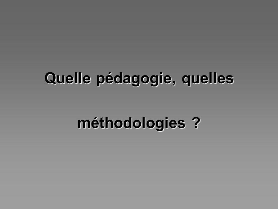 Quelle pédagogie, quelles méthodologies