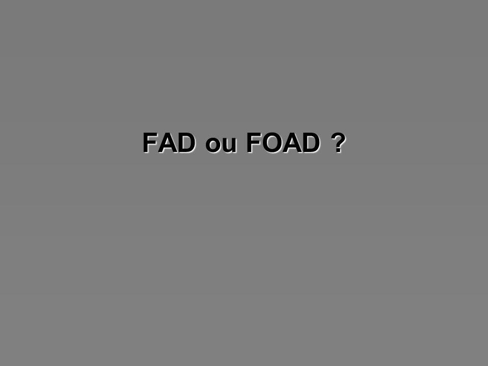 FAD ou FOAD