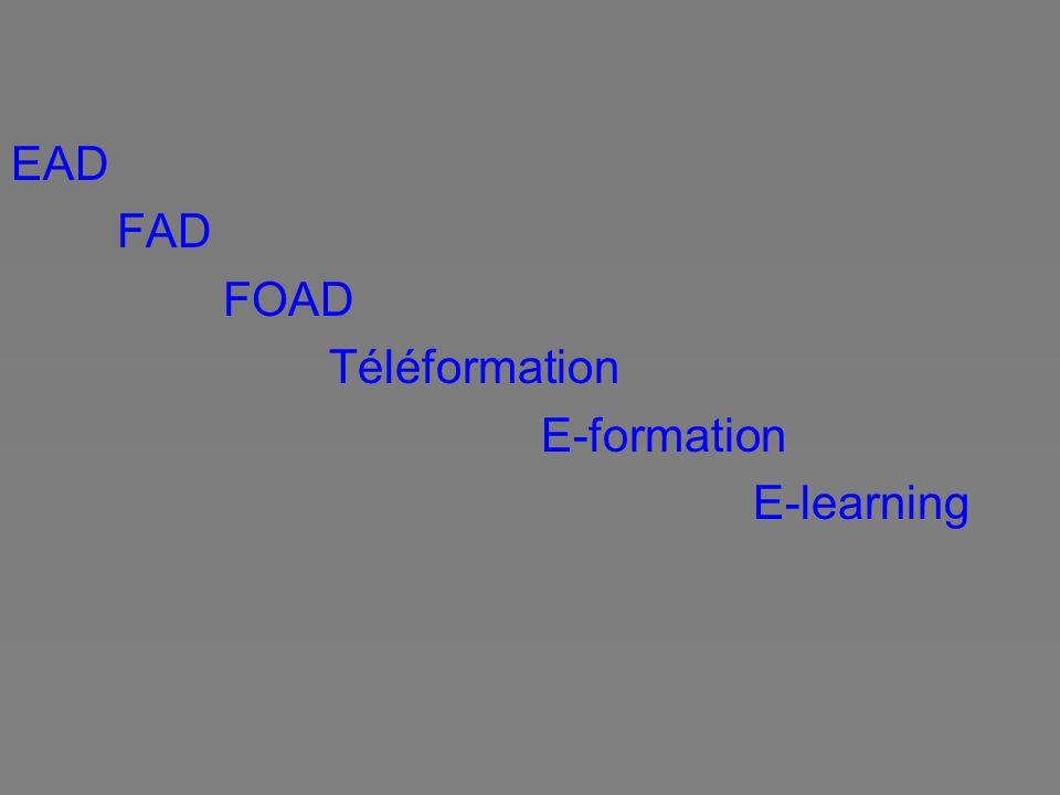 EAD FAD FOAD Téléformation E-formation E-learning