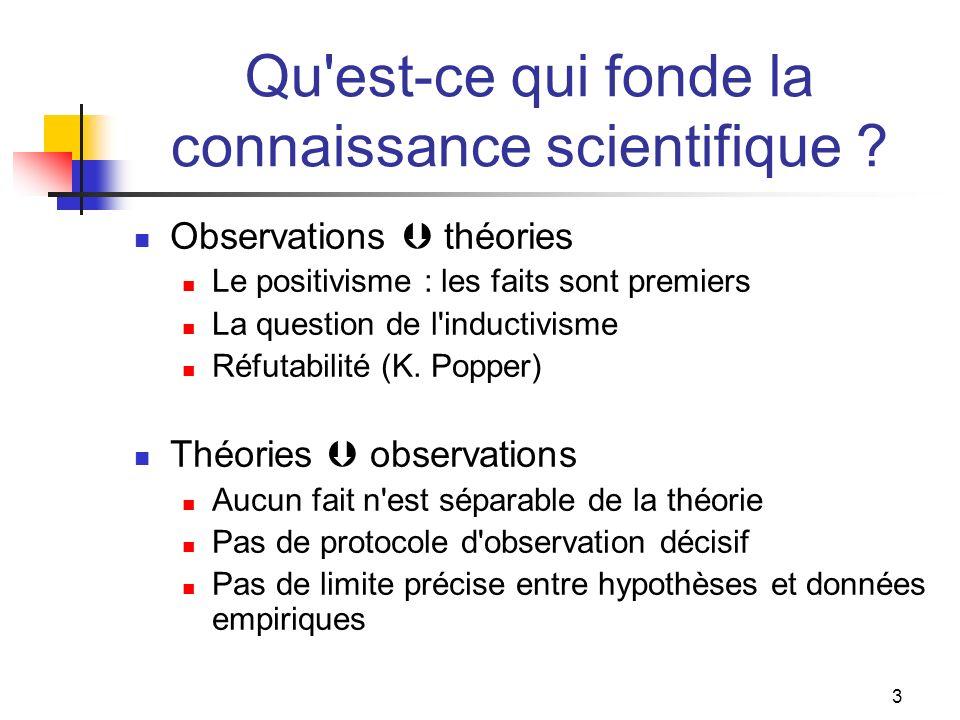 Qu est-ce qui fonde la connaissance scientifique