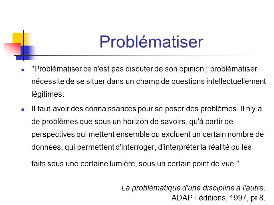 Problématiser