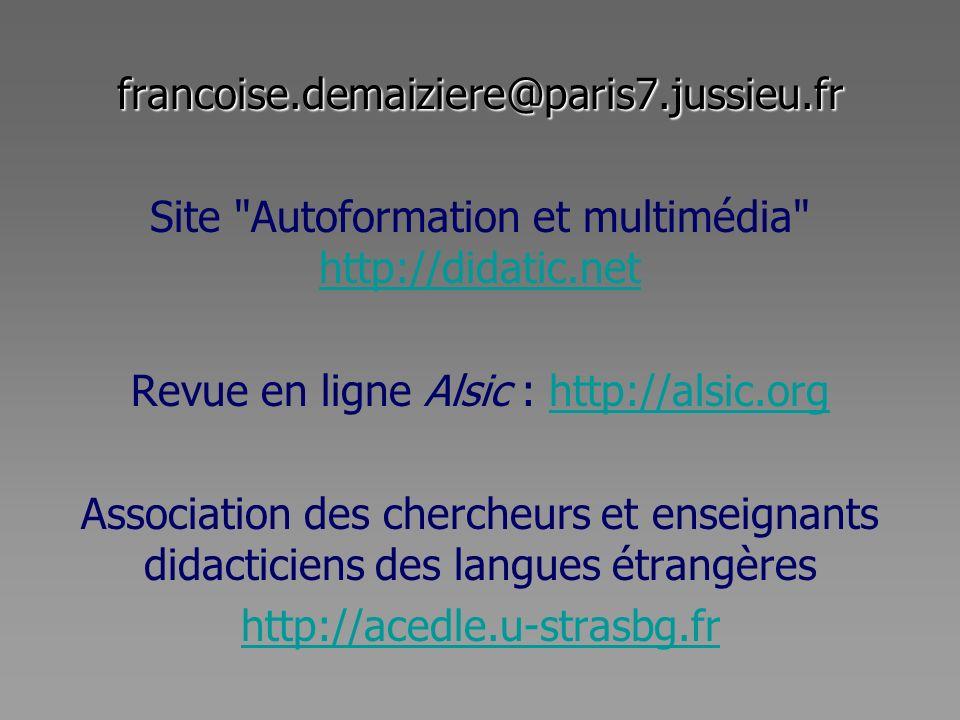 Site Autoformation et multimédia http://didatic.net