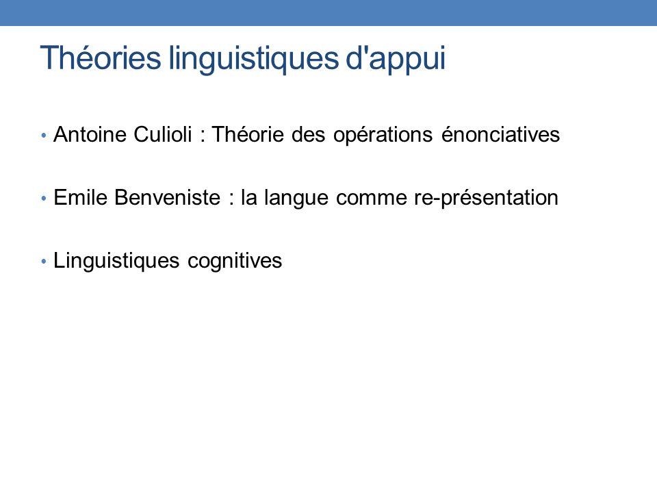 Théories linguistiques d appui