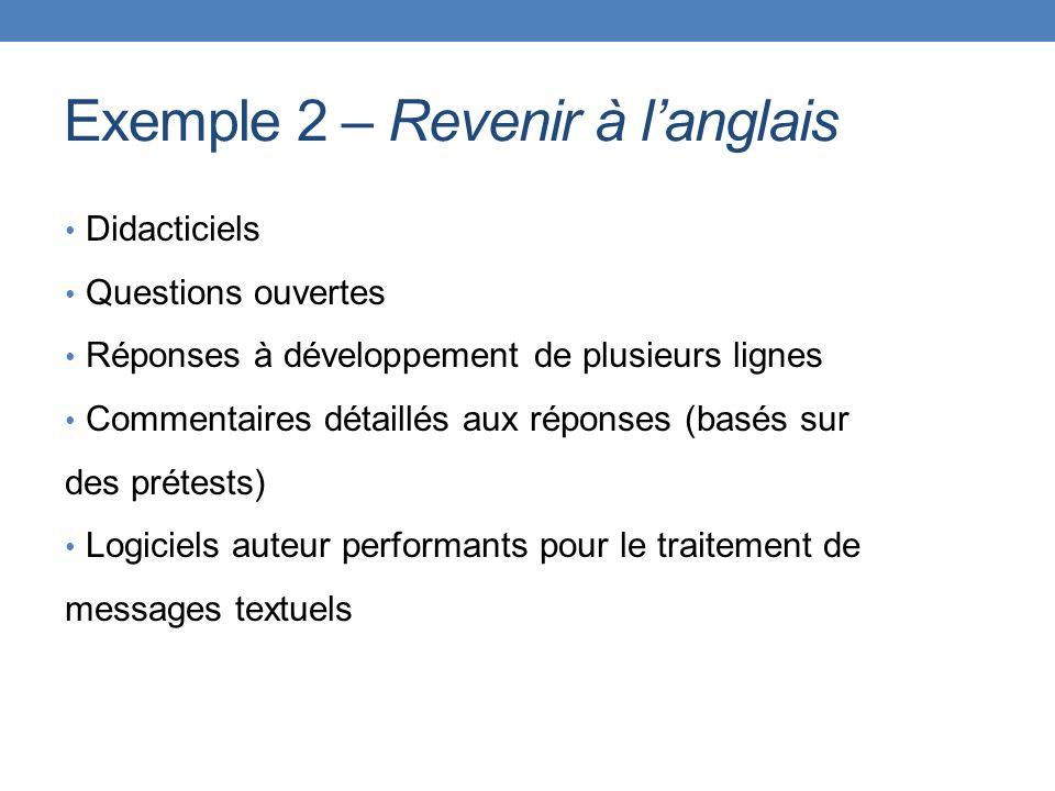 Exemple 2 – Revenir à l'anglais