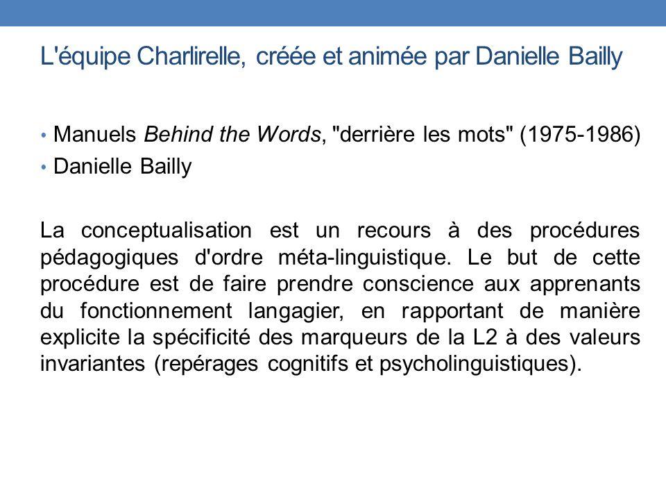 L équipe Charlirelle, créée et animée par Danielle Bailly