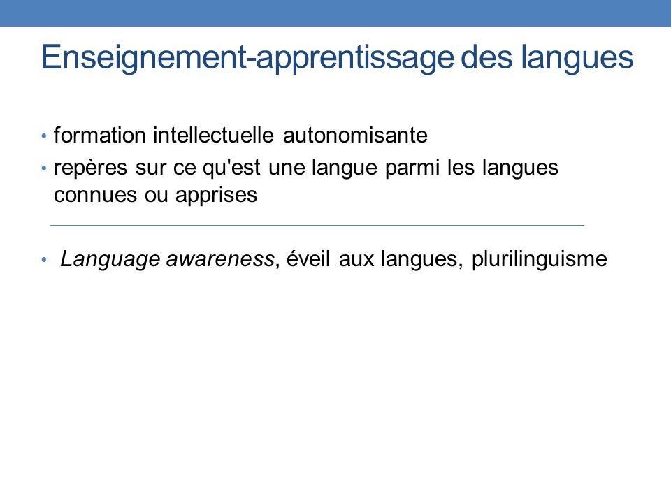 Enseignement-apprentissage des langues