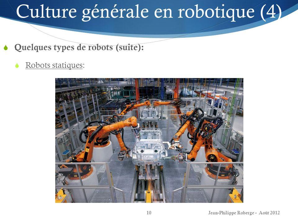 Culture générale en robotique (4)