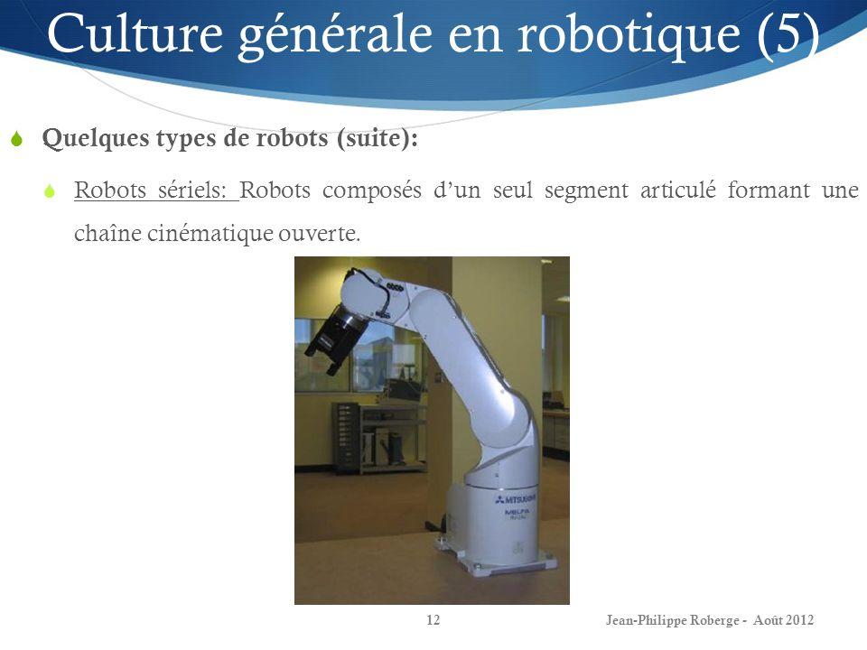 Culture générale en robotique (5)