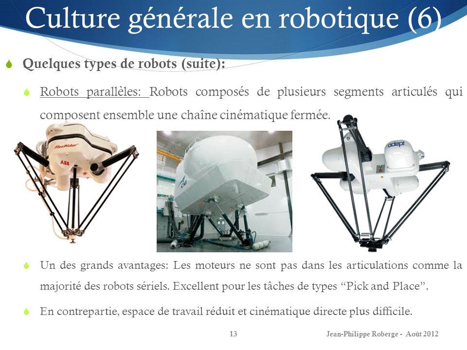 Culture générale en robotique (6)
