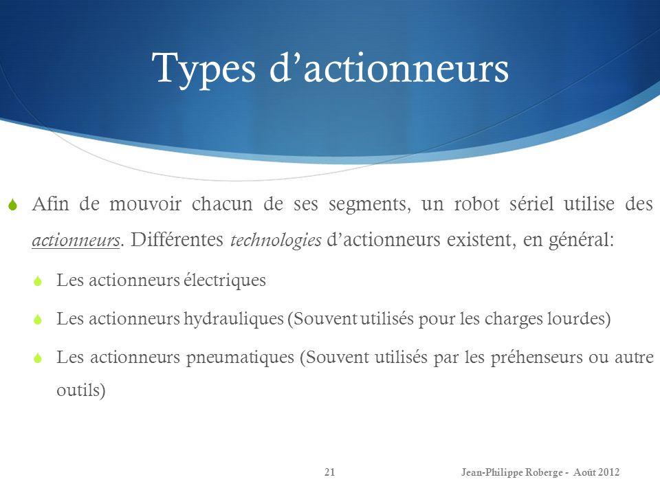 Types d'actionneurs