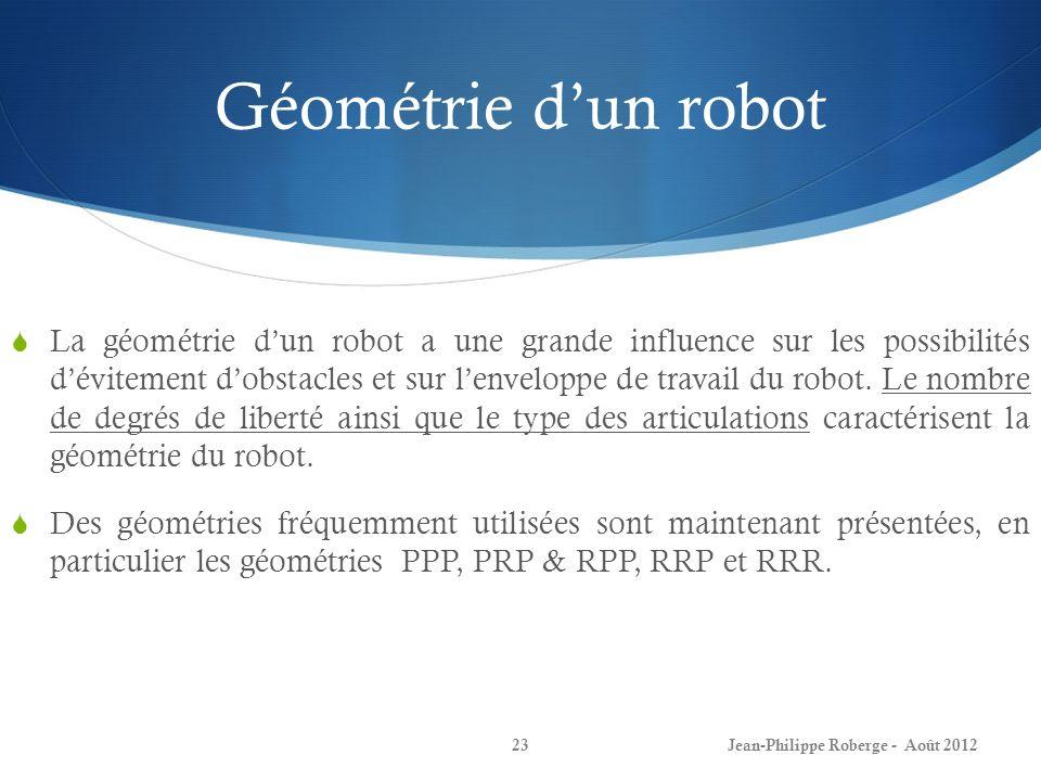 Géométrie d'un robot