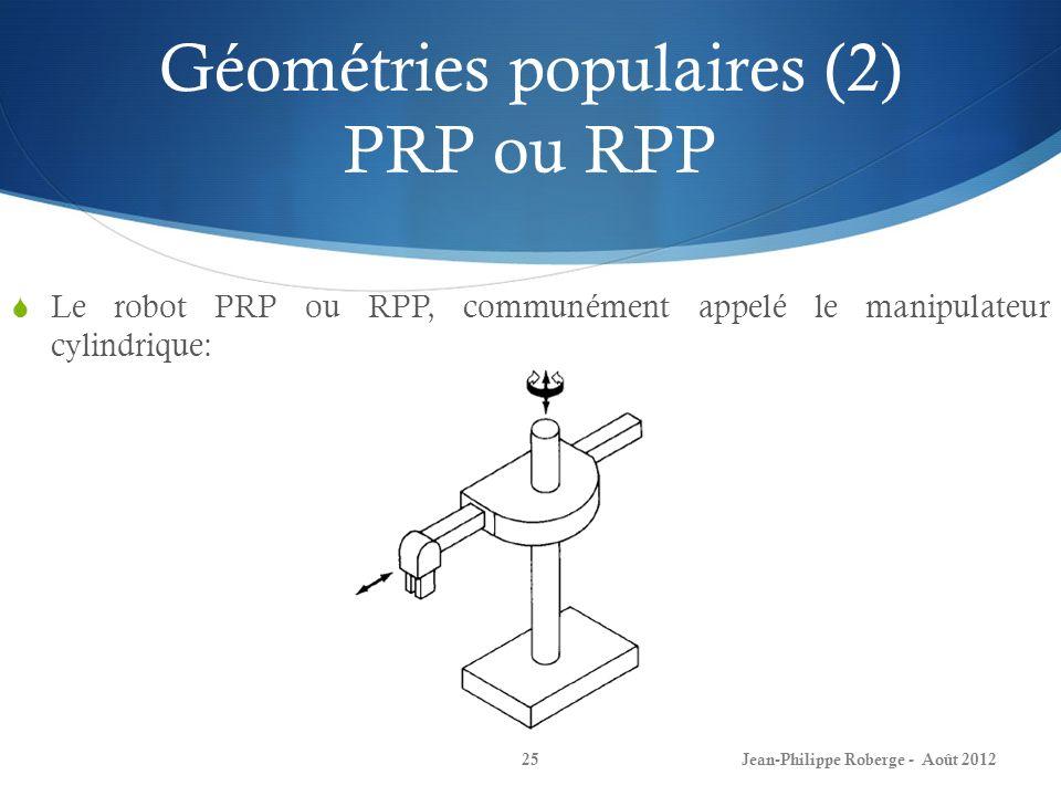 Géométries populaires (2) PRP ou RPP