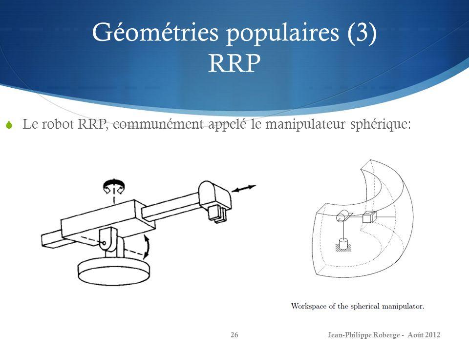 Géométries populaires (3) RRP