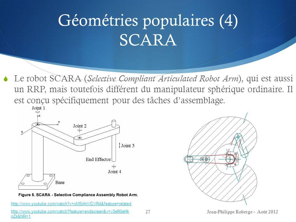 Géométries populaires (4) SCARA