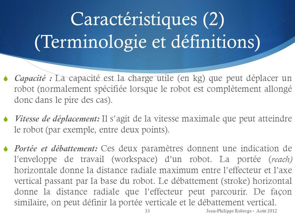 Caractéristiques (2) (Terminologie et définitions)