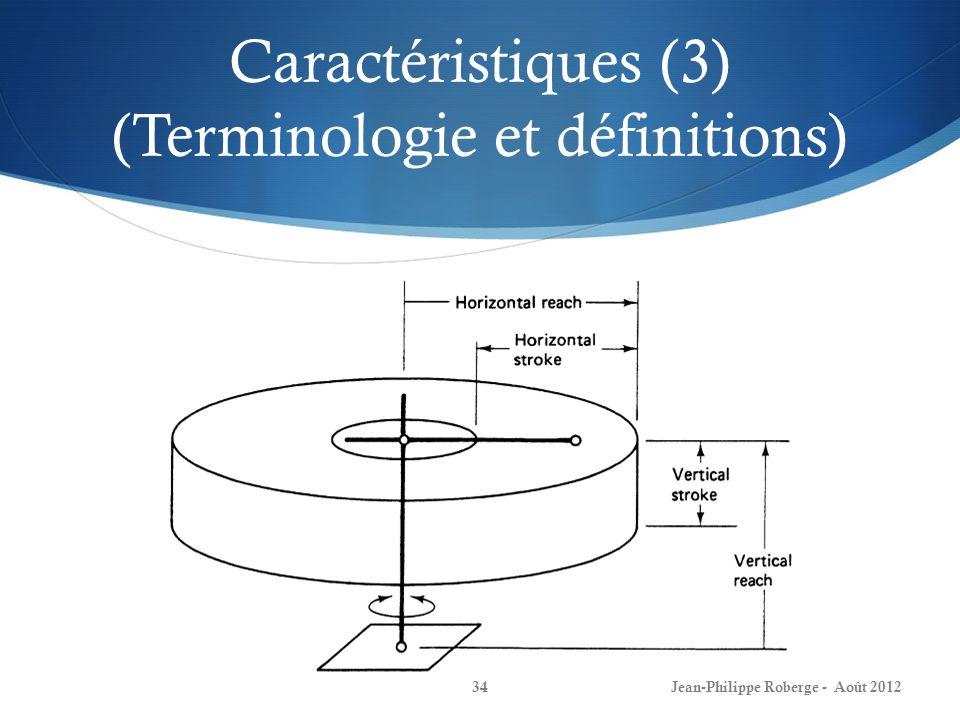 Caractéristiques (3) (Terminologie et définitions)
